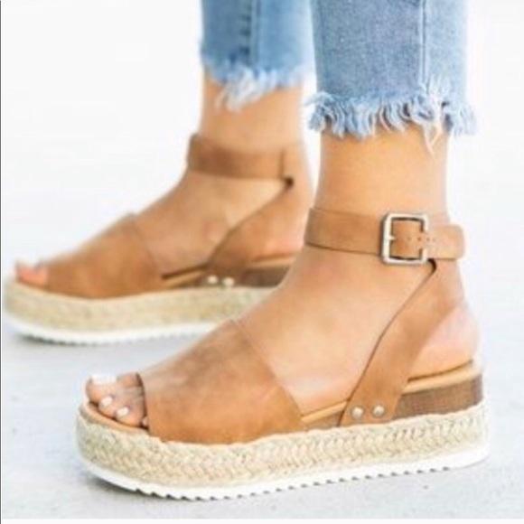 Amelia Tan Espadrille Platform Sandal